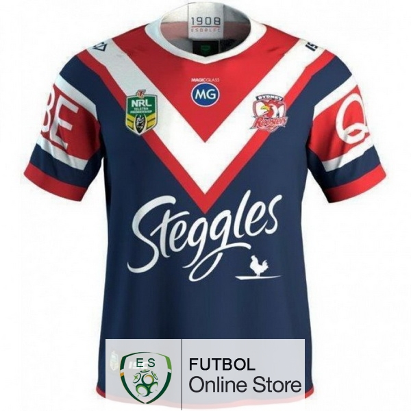Rugby Camiseta Sydney Roosters 2018 Primera Azul