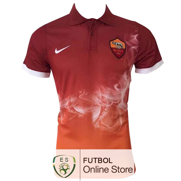 Polo AS Rome Naranja 2017/2018
