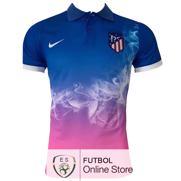 Polo Atletico Madrid Azul Rosa 2017/2018