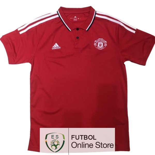 Polo Manchester United Rojo Blanco 2017/2018
