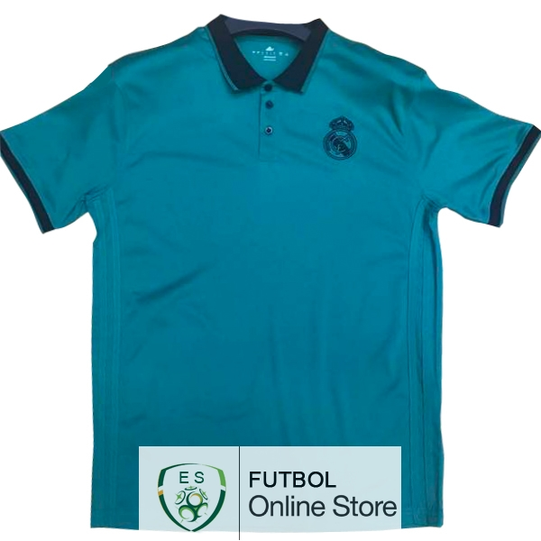 Polo Real Madrid Negro Azul 2017/2018