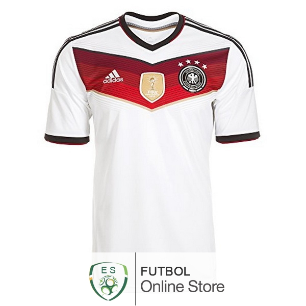 Retro World Cup 2014 Camiseta Alemania Retro Primera Blanco