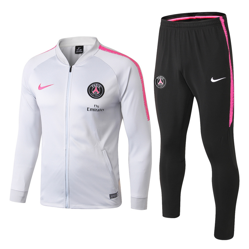 2018/19 Gris Claro Chaqueta Ensemble Complet Paris Saint Germain
