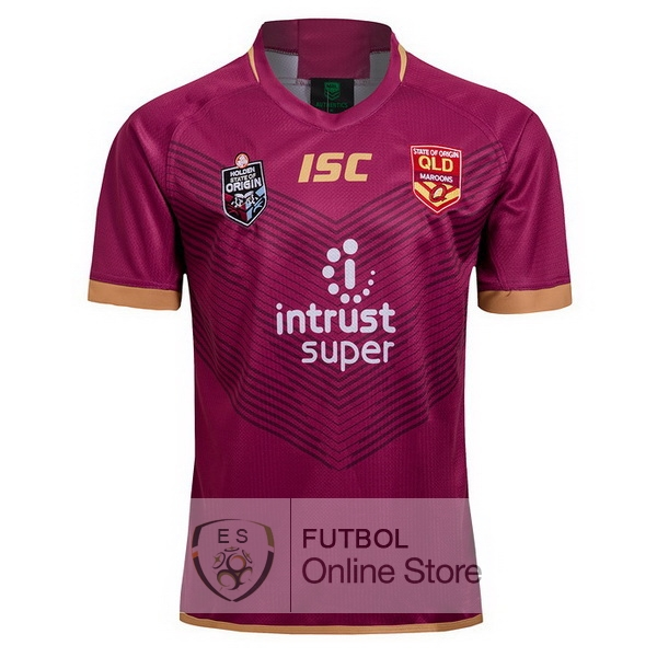 Rugby Camiseta QLD Maroons 2018 Rojo