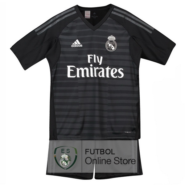 Camiseta Real Madrid Ninos 18 2019 Portero Primera Conjunto Completo f9dbf122253e2