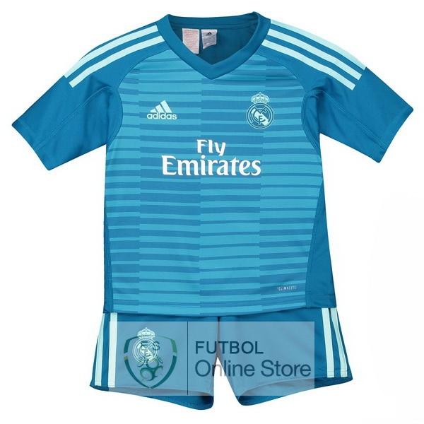 Camiseta Real Madrid Ninos 18 2019 Portero Segunda Conjunto Completo 9101f9489d36f
