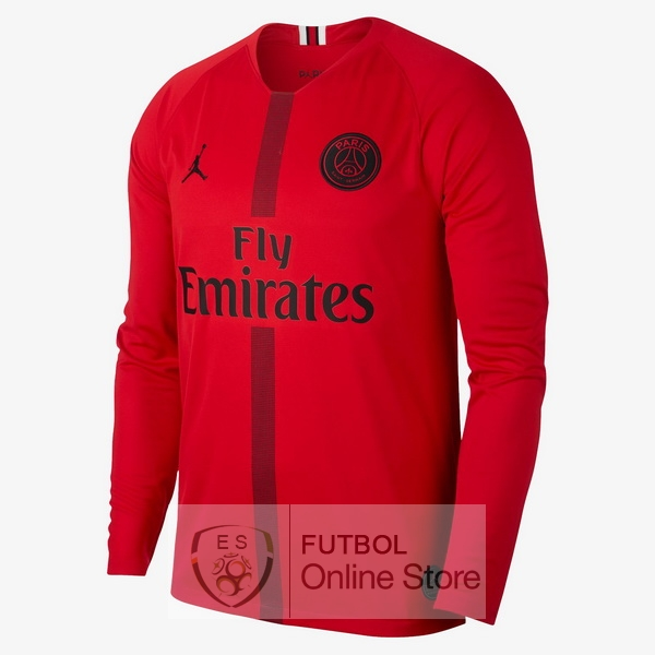 Camiseta Paris Saint Germain 18/2019 Manga Larga Portero Rojo