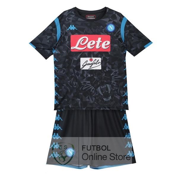 b046eb3fe268a Camiseta Napoli Ninos 18 2019 Segunda Conjunto Completo