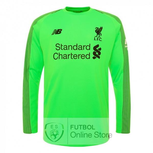 Camiseta Liverpool 18 2019 Manga Larga Portero Segunda 83d7573efcd78