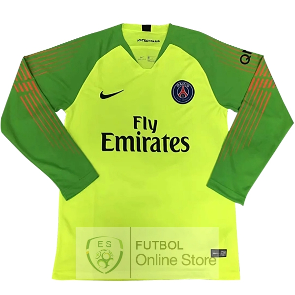 Camiseta Paris Saint Germain 18/2019 Manga Larga Portero Verde