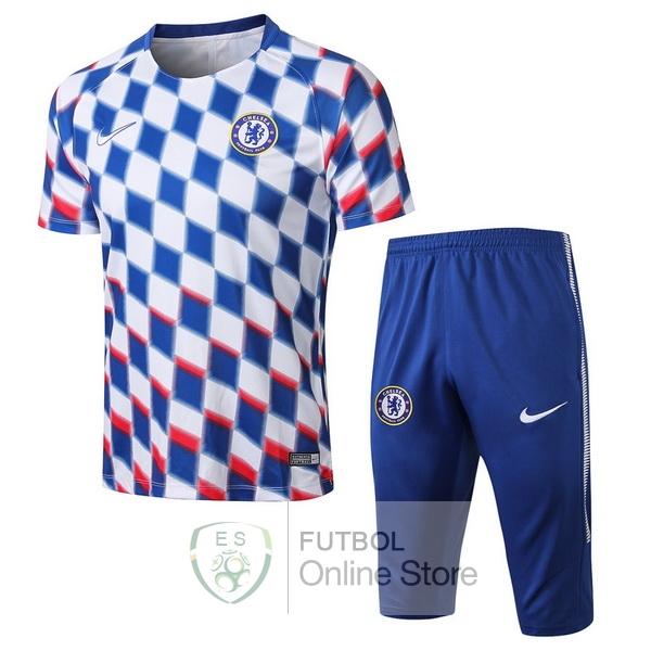 Entrenamiento Chelsea Conjunto Completo Blanco Azul 18 2019 083e548855468