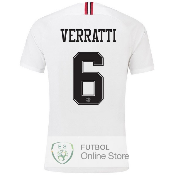 Camiseta Verratti Paris Saint Germain 18/2019 Tercera Segunda