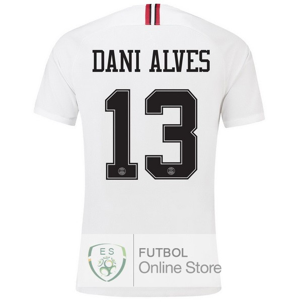 Camiseta Dani Alves Paris Saint Germain 18/2019 Tercera Segunda