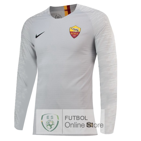 Camiseta As Roma 18/2019 Manga Larga Segunda