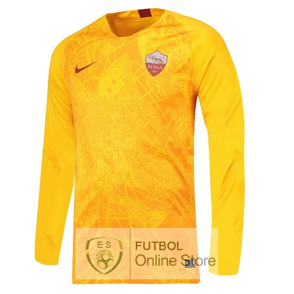 Camiseta As Roma 18/2019 Manga Larga Tercera