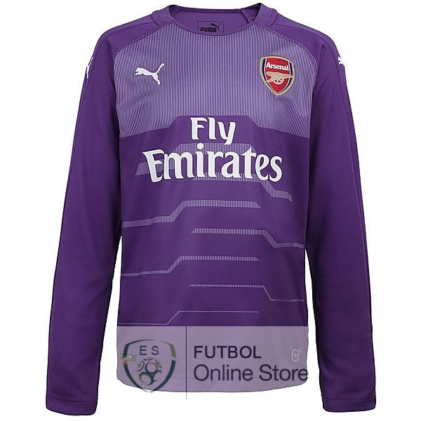 Camiseta Arsenal 18/2019 Manga Larga Portero Purpura