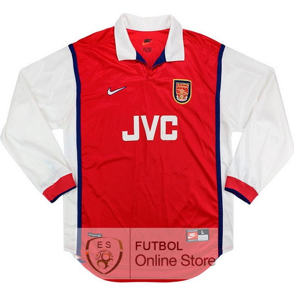 Retro Camiseta Arsenal 1998 1999 Manga Larga Primera