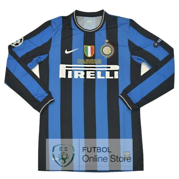 Retro Camiseta Inter Milan 2010 2011 Manga Larga Primera