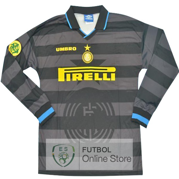 Retro Camiseta Inter Milan 2013 2014 Manga Larga Segunda
