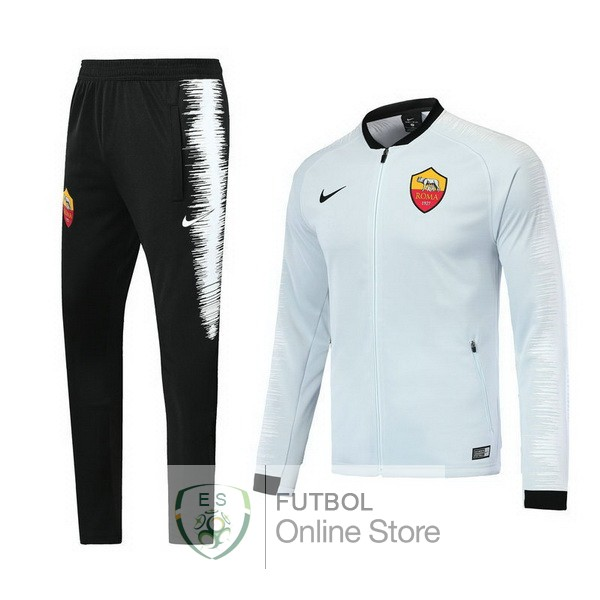 2018/19 Blanco Chaqueta Ensemble Complet AS Roma