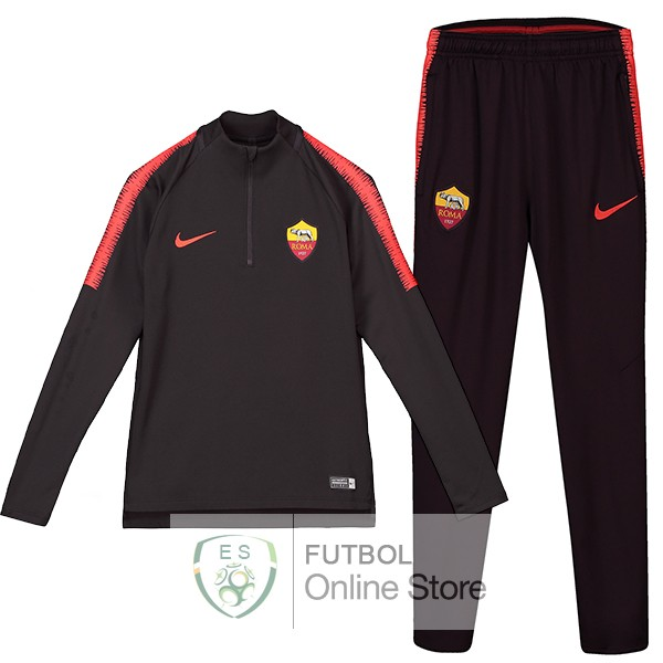 2018/19 Negro Chaqueta Ensemble Complet AS Roma