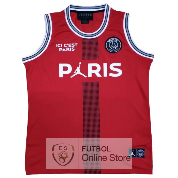 Camiseta Sin Mangas Paris Saint Germain 18/2019 Rojo