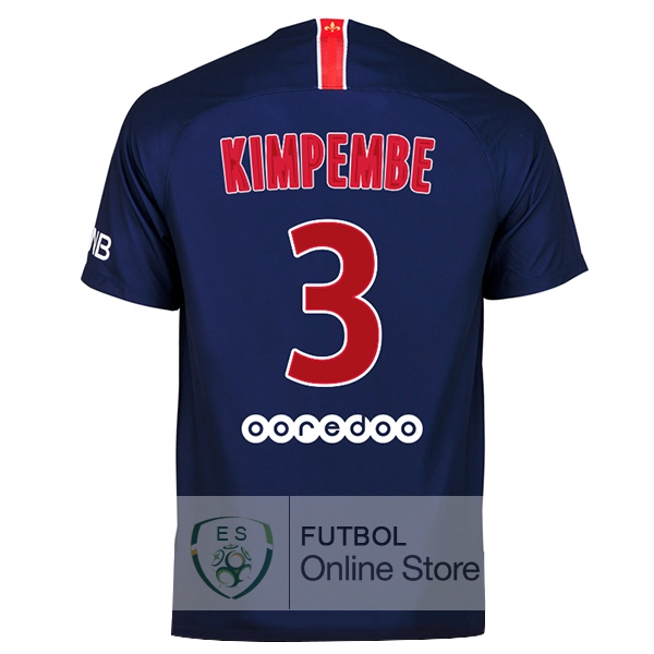 Camiseta Kimpembe Paris Saint Germain 18/2019 Primera