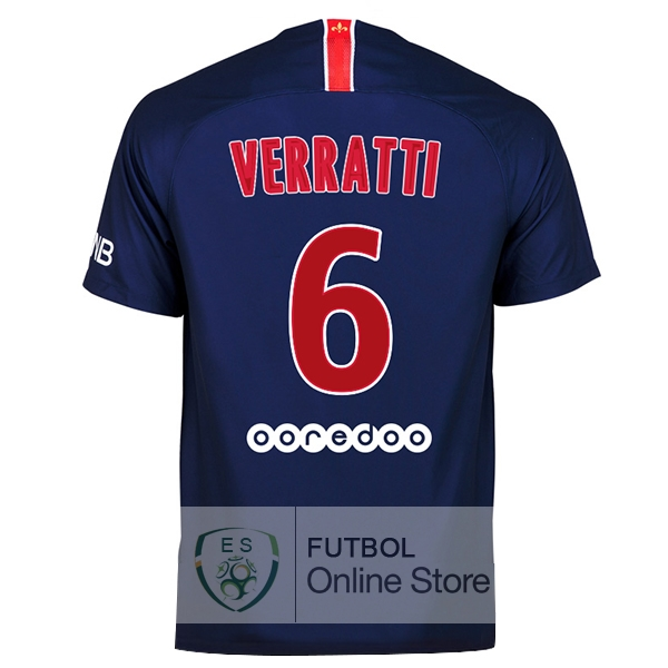Camiseta Verratti Paris Saint Germain 18/2019 Primera