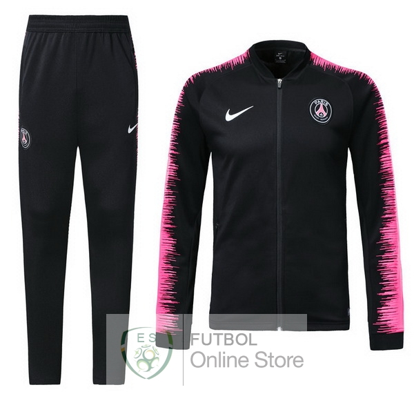 2018/19 Rosa Negro Chaqueta Ensemble Complet Paris Saint Germain