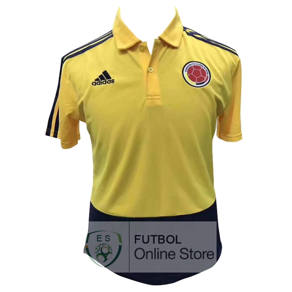 Polo Colombia Amarillo Azul 2018
