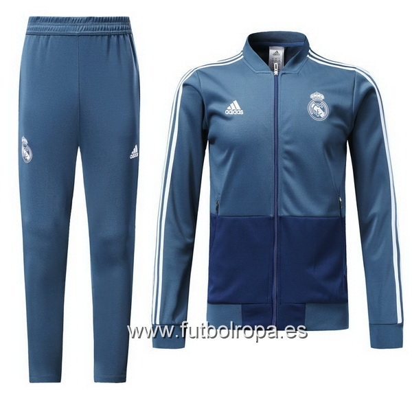 2018/19 Azul Chaqueta Ensemble Complet Real Madrid
