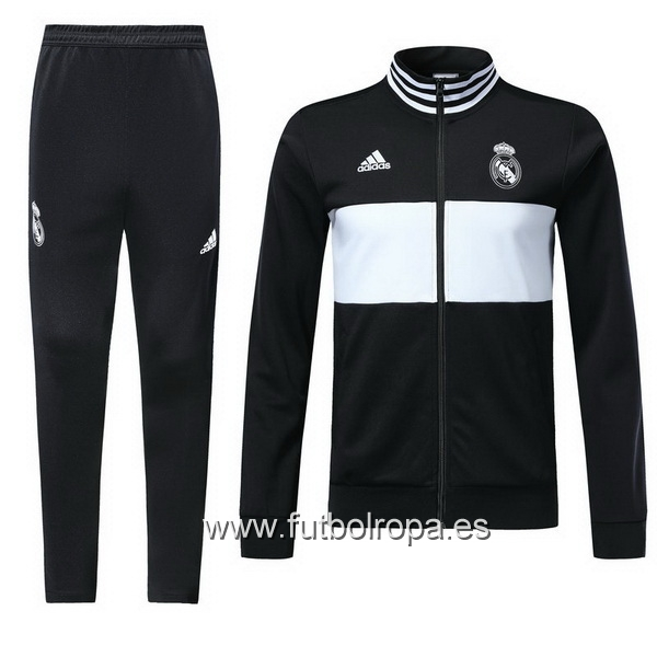 2018/19 Negro Blanco Chaqueta Ensemble Complet Real Madrid