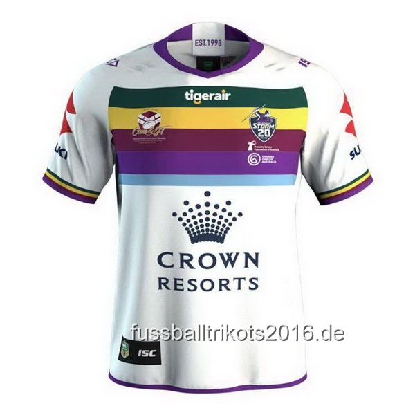 ISC Testimonial Rugby Camiseta Melbourne Storm 2018 Blanco