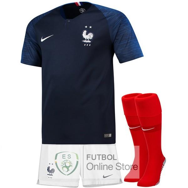 Camiseta Francia Championne du Monde 2018 Primera (Pantalones+Calcetines) 839aab759dafa