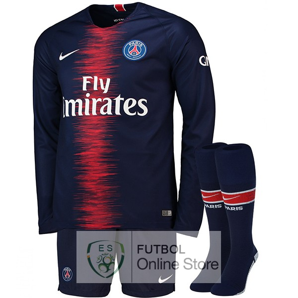 Camiseta Paris Saint Germain 18/2019 Manga Larga Primera (Pantalones+Calcetines)