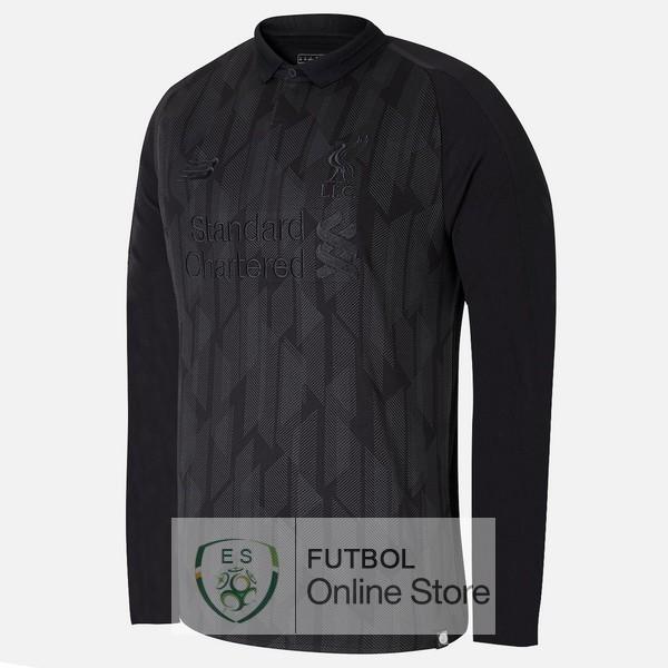 Edición Limitada Camiseta Liverpool 18 2019 Manga Larga Negro 94c2a27d694e9