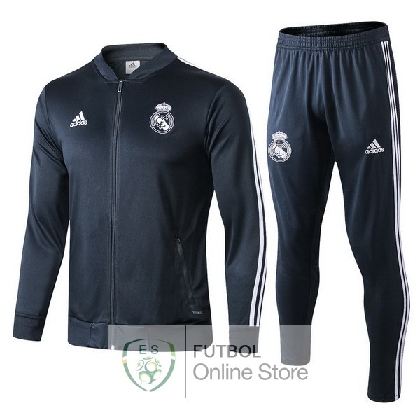2018/19 Gris Marino Chaqueta Ensemble Complet Real Madrid