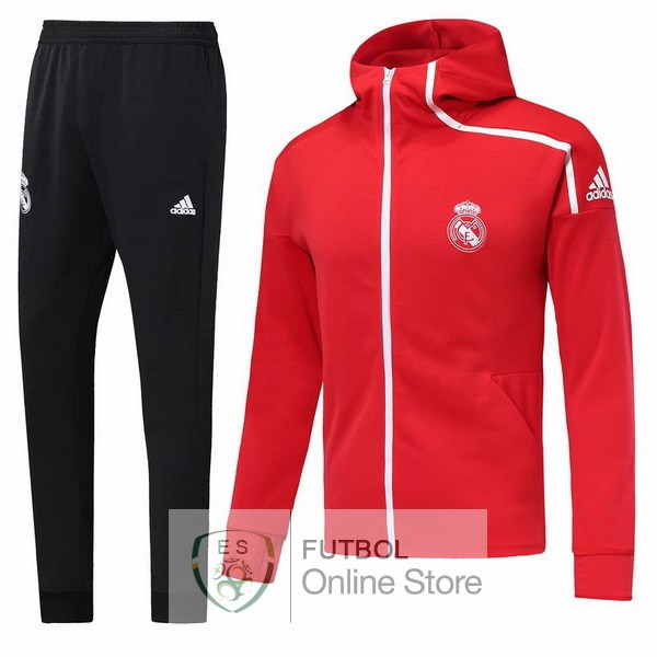 2018/19 Rojo Negro Chaqueta Ensemble Complet Real Madrid