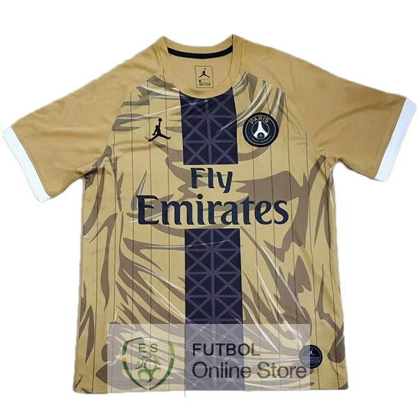 JORDAN Especial Camiseta Paris Saint Germain 19/2020 Amarillo
