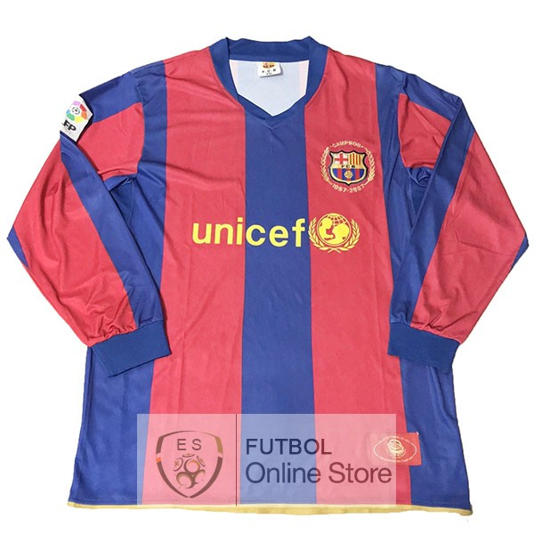 Camiseta Barcelona Manga Larga 50th Azul Rojo