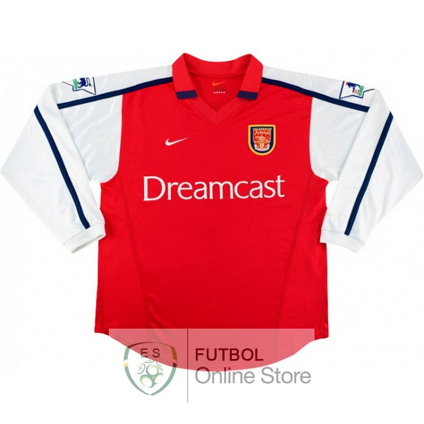 Retro Camiseta Arsenal 2000 Manga Larga Primera