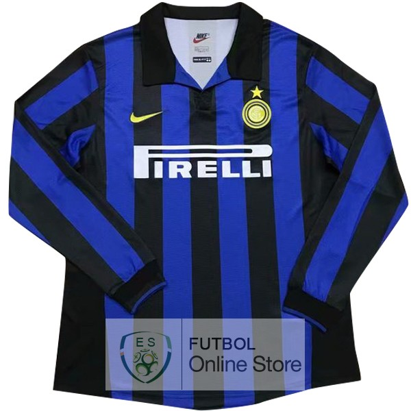 Retro Camiseta Inter Milan 1998 1999 Manga Larga Primera