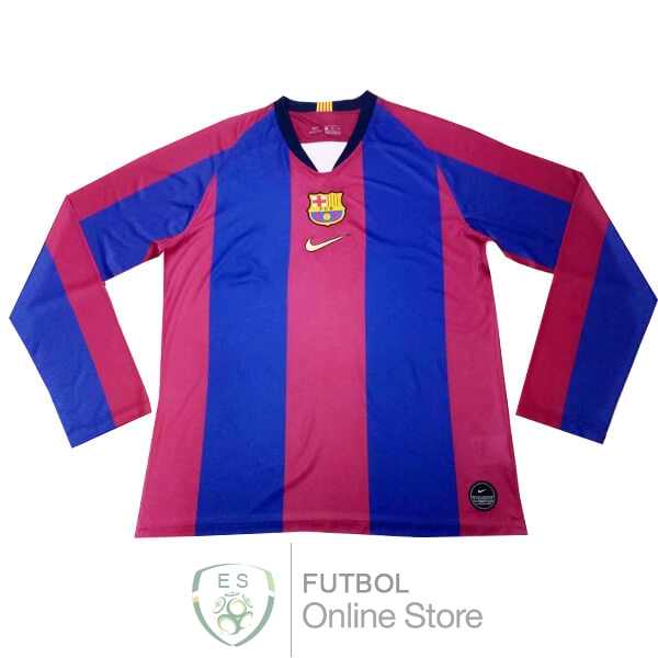Camiseta Barcelona 120th Manga Larga Azul Rojo