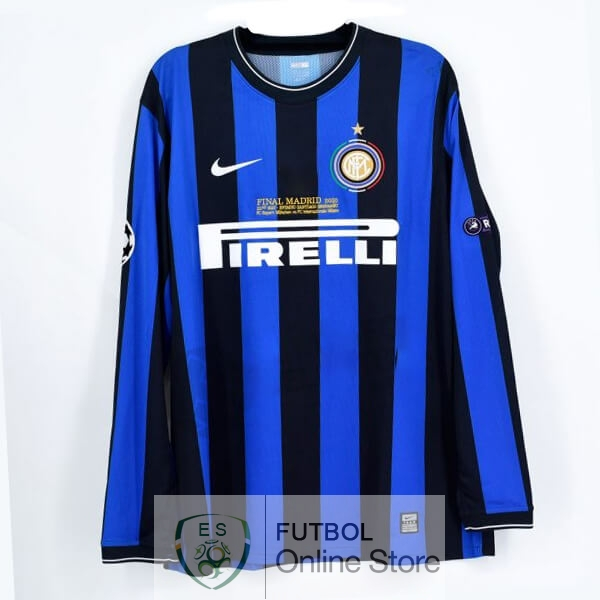 Retro Camiseta Inter Milan 2009 2010 Manga Larga Primera