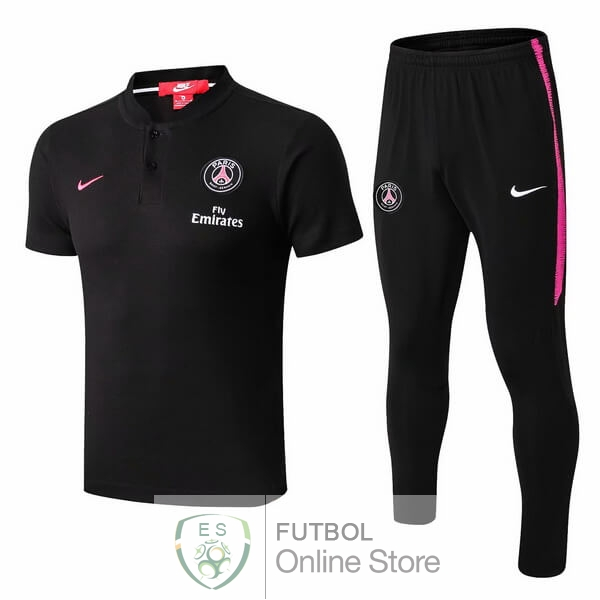 Polo Conjunto Completo Paris Saint Germain Negro Rosa 18/2019