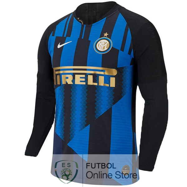 Camiseta Inter Milan 20th Manga Larga Azul