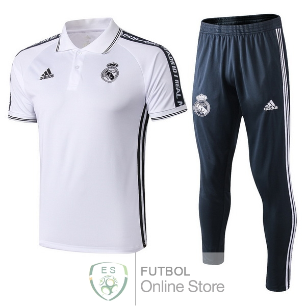 Polo Conjunto Completo Real Madrid Blanco 19/2020