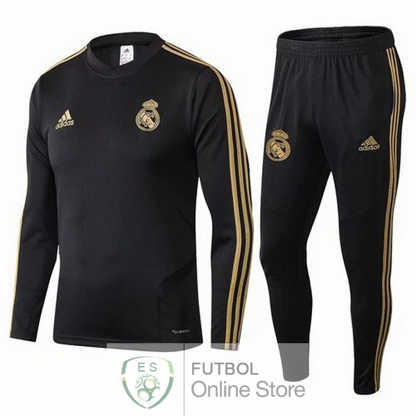 2019/20 Negro Oro Chaqueta Ensemble Complet Real Madrid