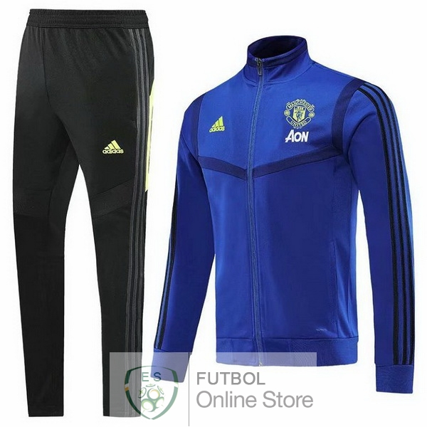 2019/20 Azul Marino Chaqueta Ensemble Complet Manchester United