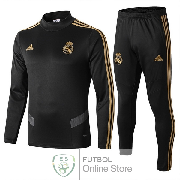 2019/20 Negro Gris Chaqueta Ensemble Complet Real Madrid